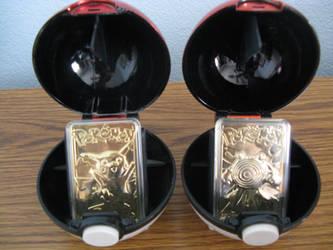 Pokemon Pikachu And Poliwhirl 23 karat Gold Plated by Silverdragon04