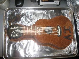Guitar Cake by eriin