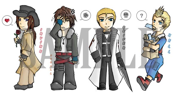 FF8 Keychain Preview by Malangporyim