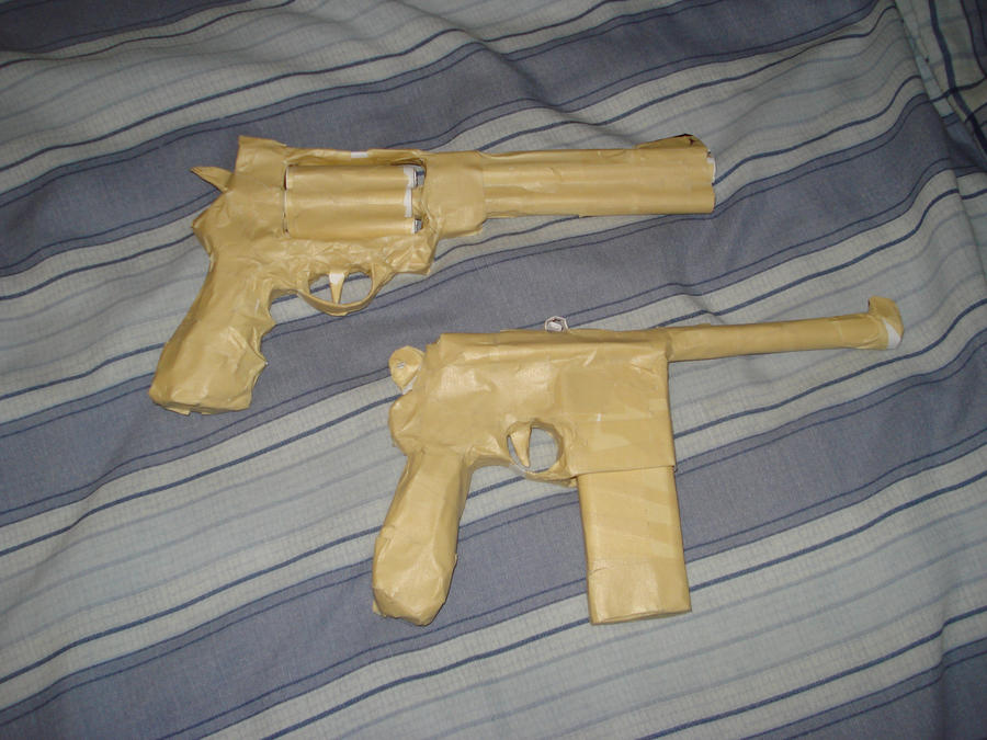 how to make a paper gun with paper and tape