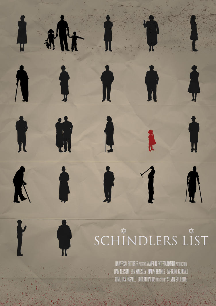 schindler s list film techniques The photo above shows a scene from the movie schindler's list in which oskar schindler is dictating, from memory, the names of his factory workers whom he wants to take with him to his new factory in brünnlitz, near his home town in moravia, which is now in the czech republic his factory manager.