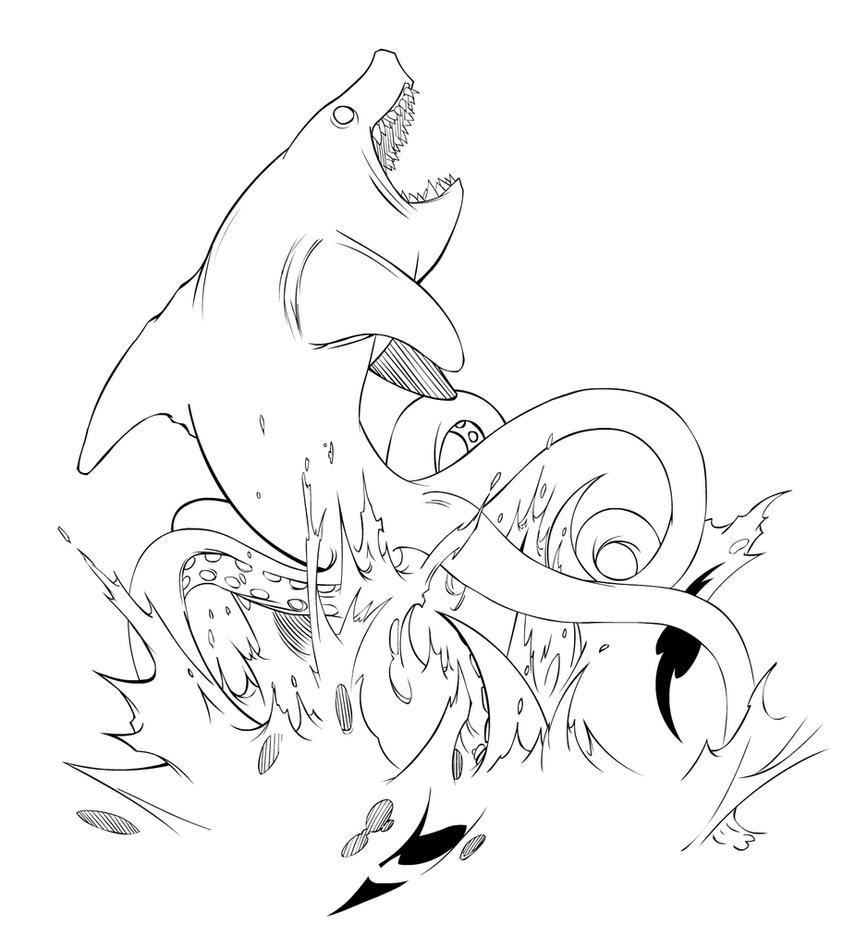 sharktopus inks by empty brooke