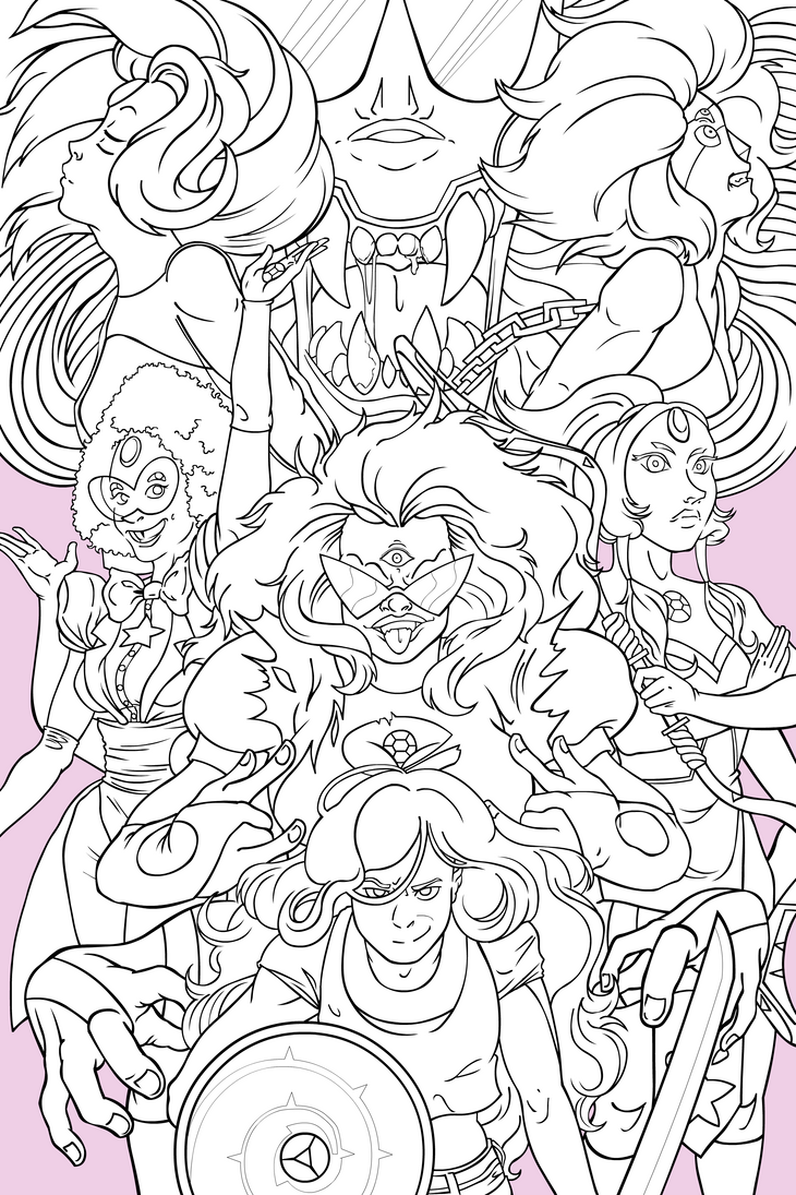 Coloring pages universe
