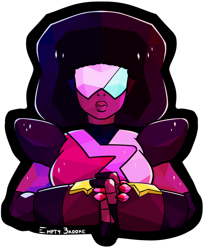Originally I hadn't planned to have Garnet so evenly divided between her red and blue gems on the colour palette but when I started tinkering with the facets for her design is just seemed to work w...