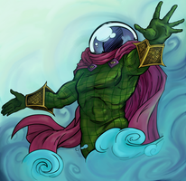 Mysterio in the Mist by Empty-Brooke