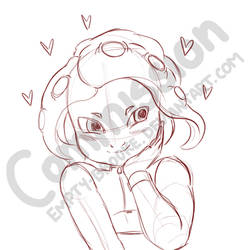 Cute Octoling [Commission] by Empty-Brooke