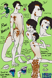 Rani Vanille Character Sketches by Empty-Brooke