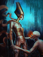 Nythokris of Thanatos by Quentinvcastel