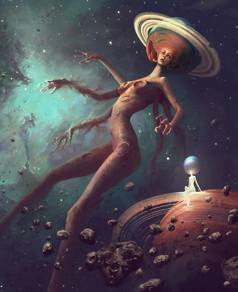 Lady Galaxy by Quentinvcastel