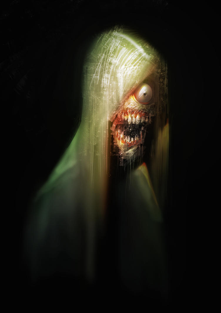 One-Eyed Zombie Dude by Quentinvcastel