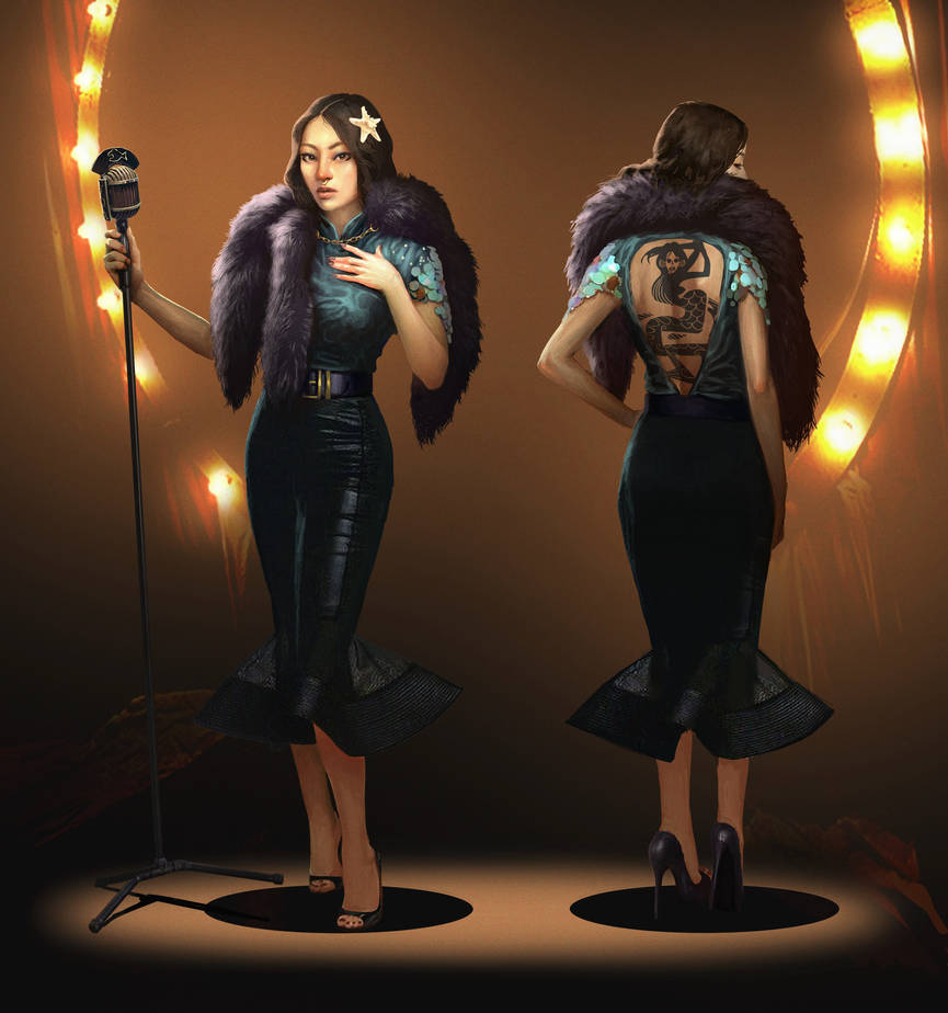 Myra The Mermaid - villain (Glass contest) by Quentinvcastel