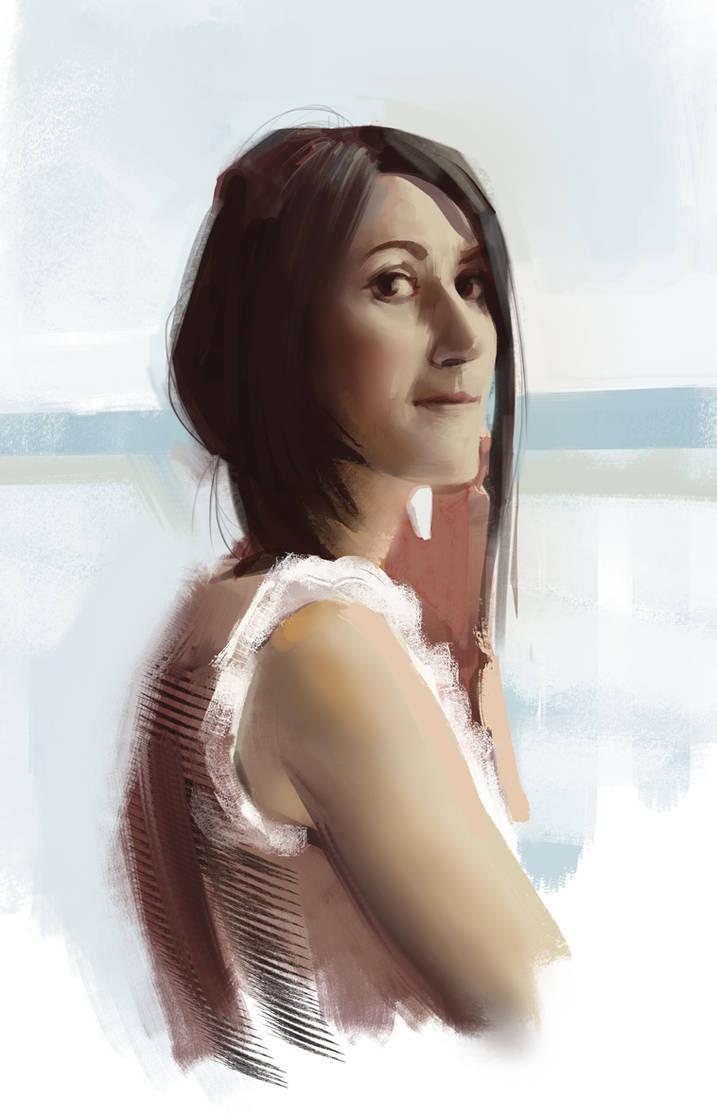 Quick portrait study by Quentinvcastel