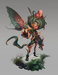 Fungus fairy by Quentinvcastel