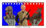 Ron Paul Hunter Cartoon