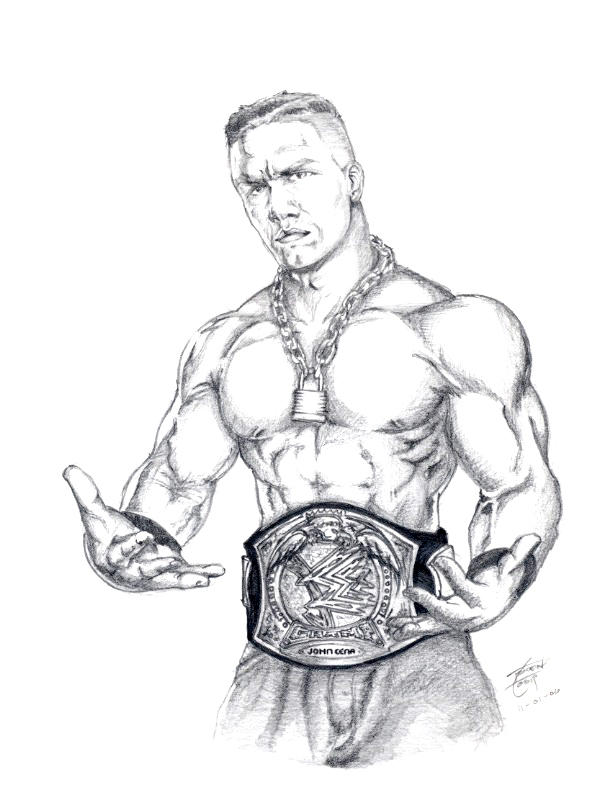 john cena coloring pages - photo#35