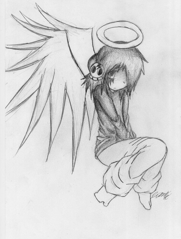 fallen angel oc by neodoodot on deviantart