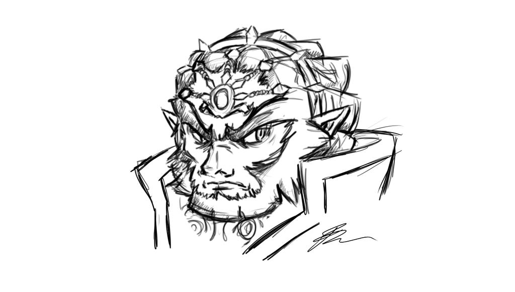 Ganondorf Doodle by neodoodot