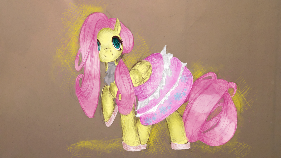Sweet Lolita Fluttershy by Guzcowy