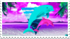 dolphins stamp by italy4eva