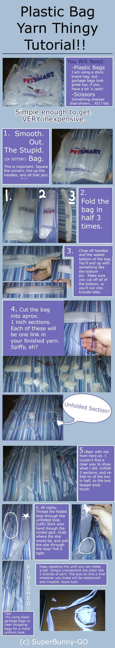 Grocery Bag Yarn Tutorial by SuperBunny-GO