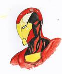 Iron Man Water Colour Study