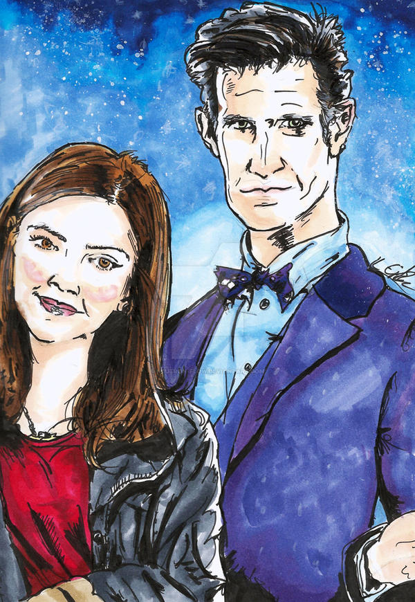 The Doctor and Clara by Neutron-Flow