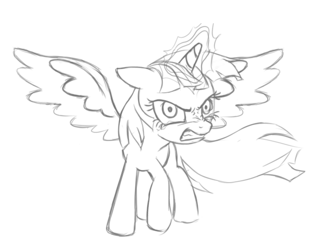 Alicorn Coloring Pages Printable Sketch Templates on princess trixie