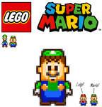 MLSS Styled LEGO Luigi