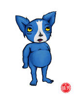 FatKid - Loup Garou Blue by MonkeyMan504