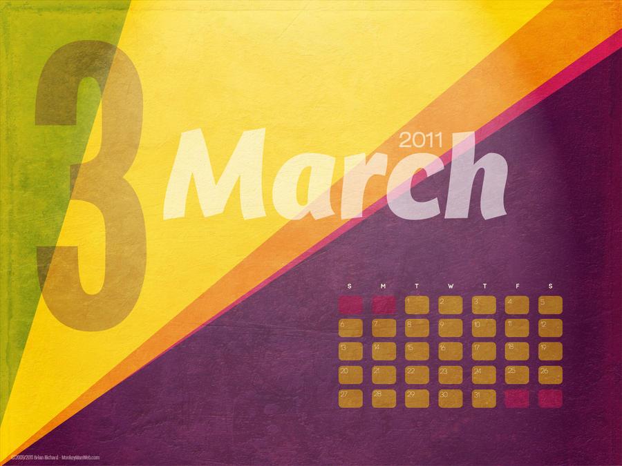 march calendar 2011. month 2011+calendar+march