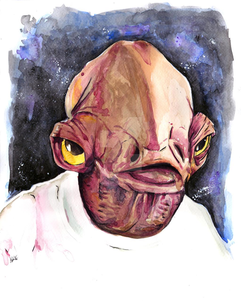 Star Wars Admiral Ackbar by MonkeyMan504