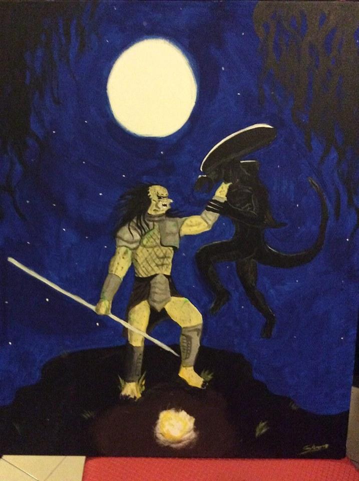 Depredador y Alien by Dwigth