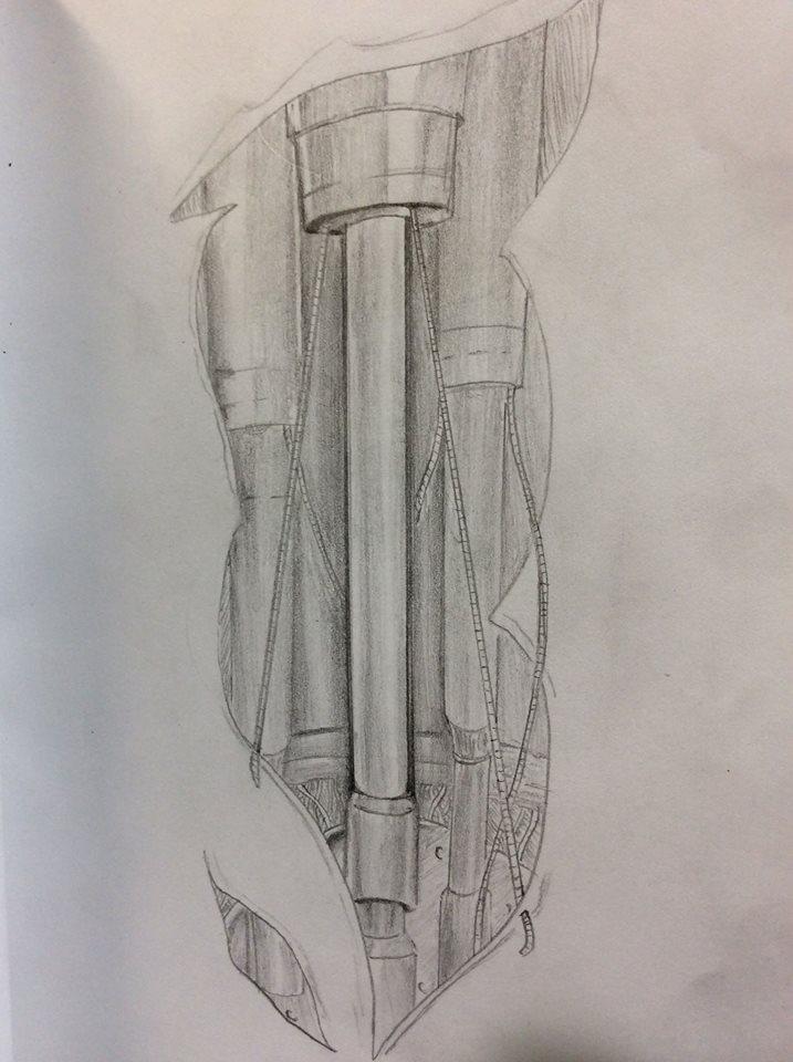 Mechanical Tattoo by Dwigth