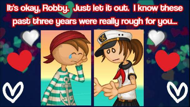Captain Cori Comforts Robby