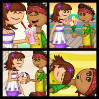 Customer Couple Scenes: Penny x Alberto