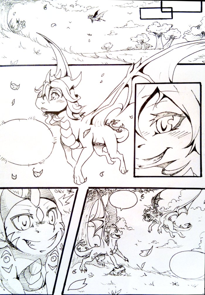 Manga doodle by Rorita-Sakura