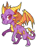 spyro mini pixel by Rorita-Sakura