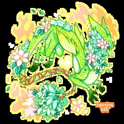 Jasmine Tea Dragon ADOPT - [CLOSED] by Rorita-Sakura
