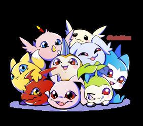 Digimon babies by Rorita-Sakura