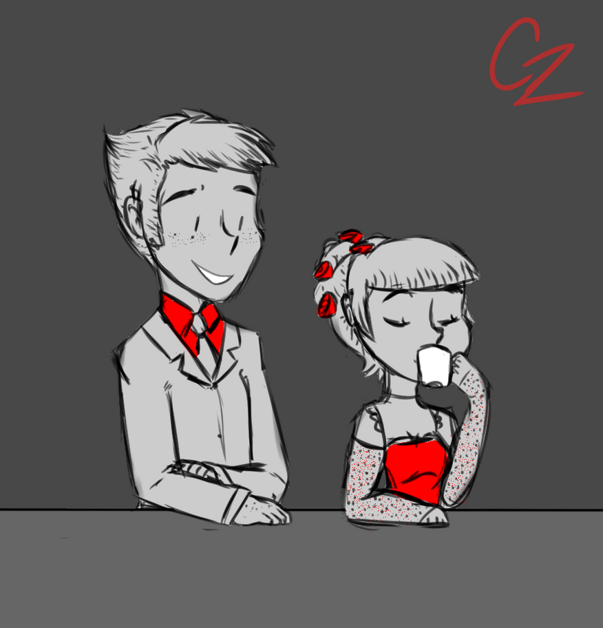 Jack and Acacia tea time by Caroline263