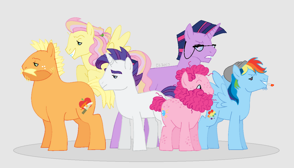 Remake- Look-a-Likes Mane Six by hateful-minds