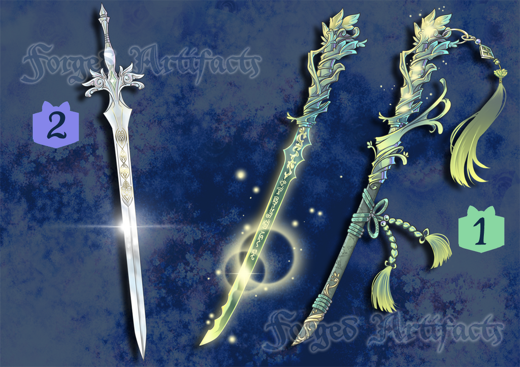 Weapon Adoption 12 Christmas Swords RAFFLE CLOSED! by Forged-Artifacts
