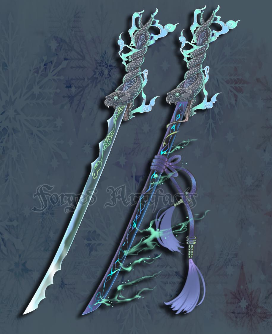 Custom Snake themed Katana by Forged-Artifacts on DeviantArt