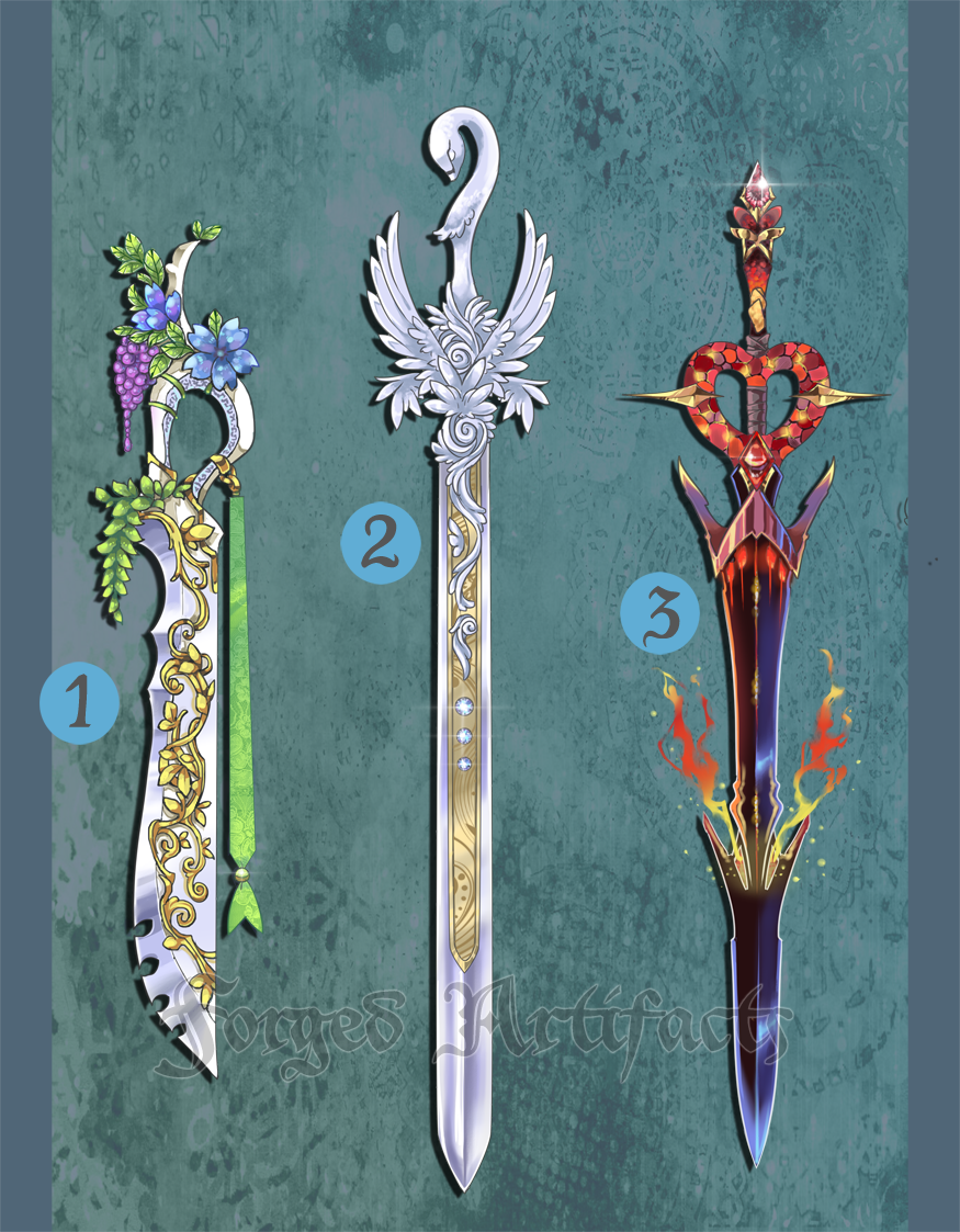 Weapon Adoption 16 Elemental themed Swords CLOSED by ...