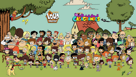 The Loud House and The Casagrandes collage