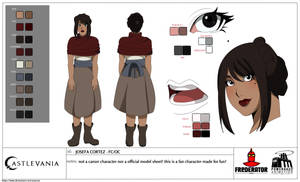 Josefa Cortez Model Sheet by AsaRose