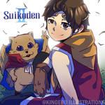 SUIKODEN 2 Fansart RIou and Mukumuku by EruSaint29