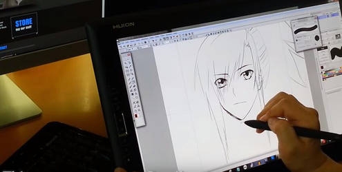 importedinventions is drawing by Huion GT185HD