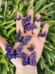 Purple Fantasy Butterflies