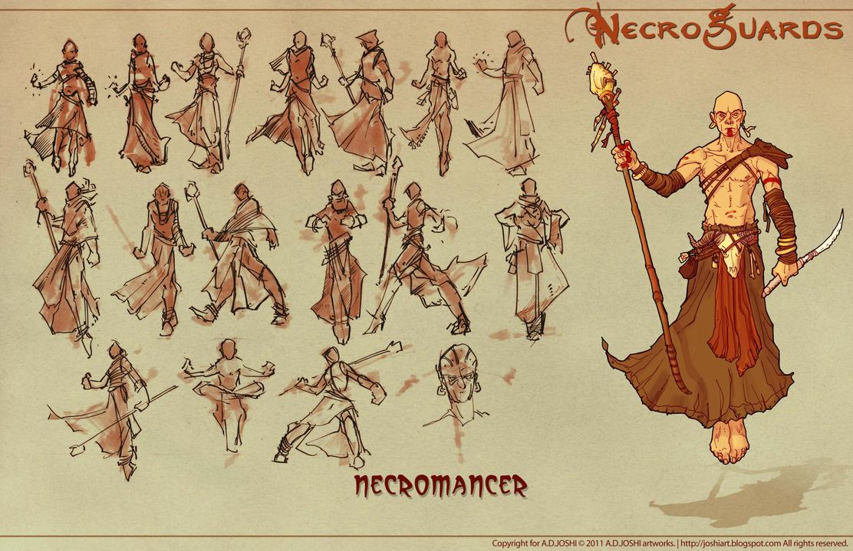 DnD Fantasy - Necromancer by Atomic-Hermit